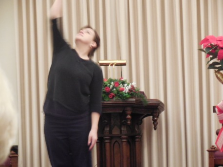 Kimberly Payne dances on Christmas Eve