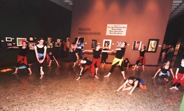 Student generated choreography presented at Canton Museum of Art